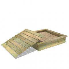 PowerPit Sandpit with cover 145x145x32 cm